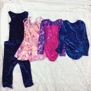 Bundle of girl's dance clothes